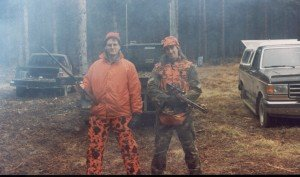 Dave at deer camp with Tyler