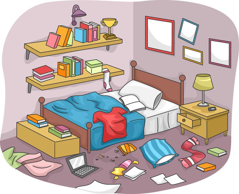 Free Messy Room Clipart